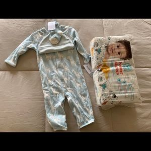Carters Gift Set Romper Hat Socks Honest Diapers